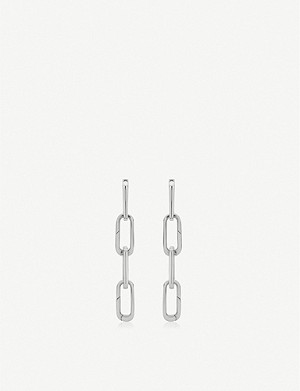MONICA VINADER Alta Capture Charm Cocktail sterling silver link earrings