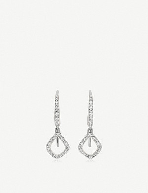 MONICA VINADER Riva Mini Kite sterling silver and diamond drop earrings