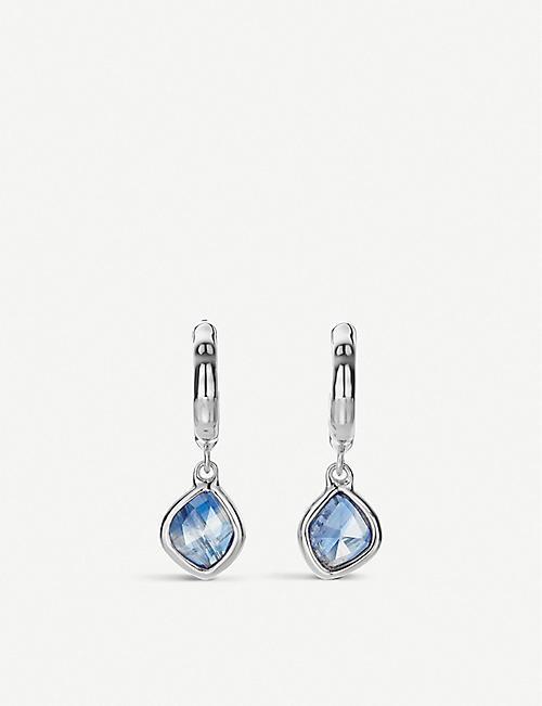 2be16a854901c MONICA VINADER Siren sterling silver and kyanite hoop earrings