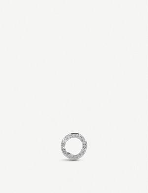 MONICA VINADER Riva Diamond Circle Stud sterling silver single earring