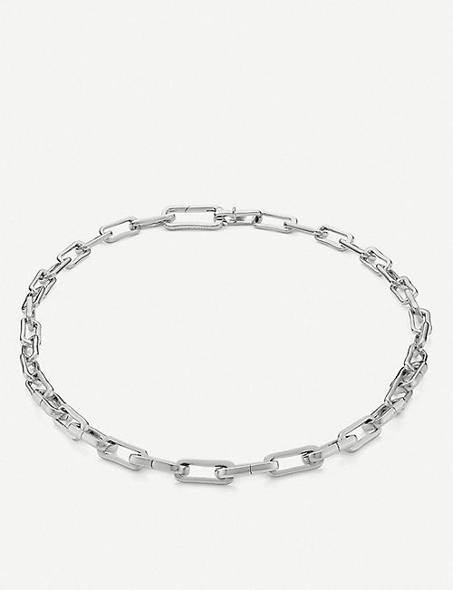 e9535aa68 MONICA VINADER Alta Capture Charm sterling silver link necklace