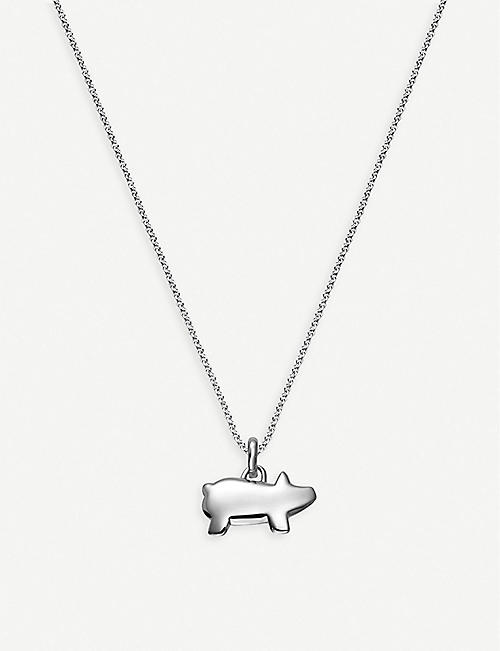 MONICA VINADER Bessie The Pig sterling silver Chinese Zodiac charm