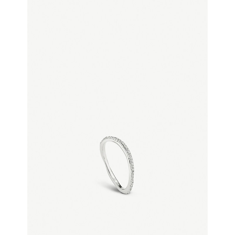 MONICA VINADER   Riva Sterling Silver And Diamond Ring   Goxip