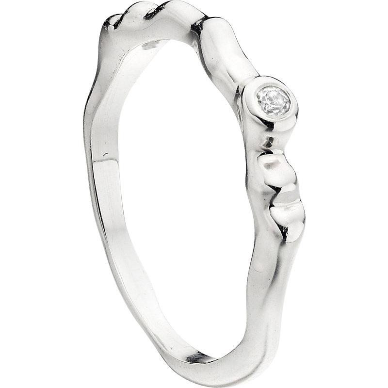MONICA VINADER | Siren Waved Sterling Silver Ring | Goxip