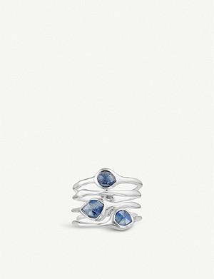 MONICA VINADER Siren sterling silver and kyanite cluster cocktail ring