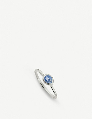MONICA VINADER Siren sterling silver and kyanite small stacking ring
