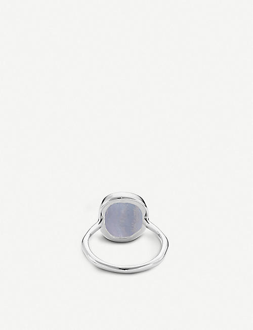 MONICA VINADER Siren sterling silver and lace agate medium ring