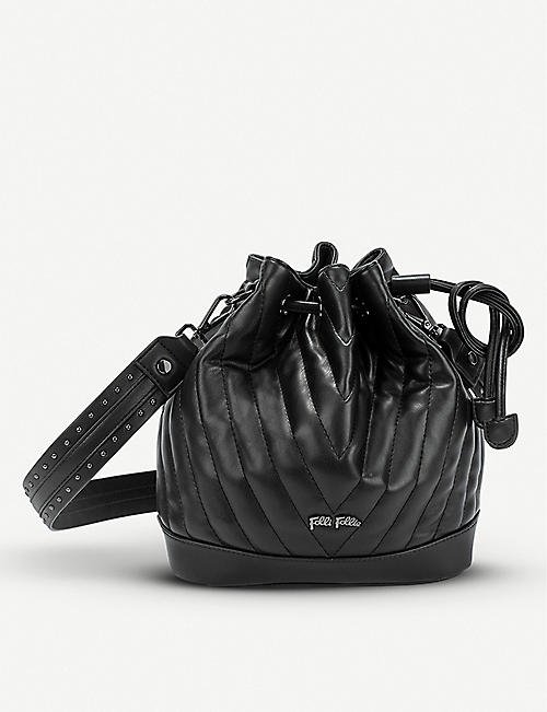 GAZELLE Style Row faux-leather bucket bag