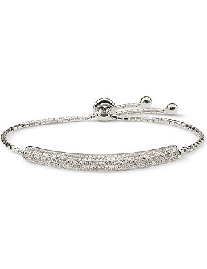 FOLLI FOLLIE Fashionably double sparkle silver bracelet