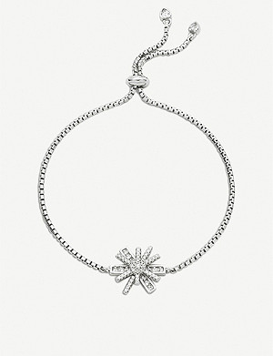 FOLLI FOLLIE Star Flower rhodium-plated adjustable bracelet