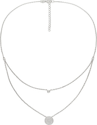 FOLLI FOLLIE Fashionably circle sterling silver necklace