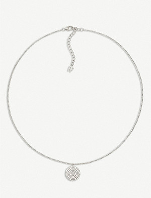 FOLLI FOLLIE Discus silver and cubic zirconia necklace