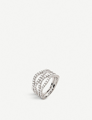 FOLLI FOLLIE Fashionably silver and crystal band ring