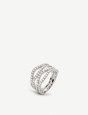 FOLLI FOLLIE Fashionably Silver silver and cubic zirconia ring