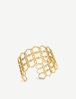 FOLLI FOLLIE Chic Princess yellow gold-plated bangle