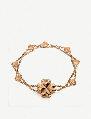 FOLLI FOLLIE Heart4Heart Blossom rose gold-plated interwoven chain bracelet