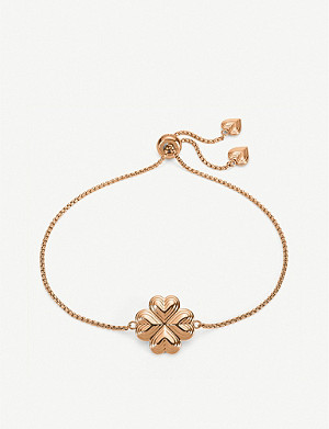 FOLLI FOLLIE Heart4Heart Blossom rose gold-plated chain bracelet