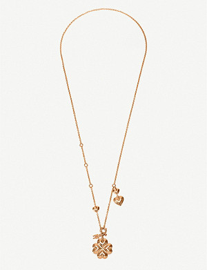 FOLLI FOLLIE Heart4Heart Blossom rose gold-plated pendant necklace