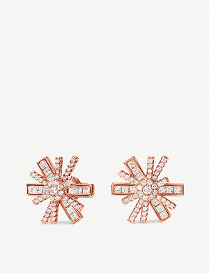 FOLLI FOLLIE Star Flower rose-gold plated earrings