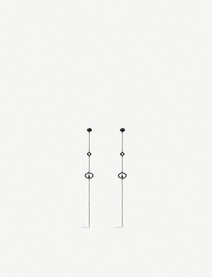 FOLLI FOLLIE Dream princess gunmetal-plated earrings