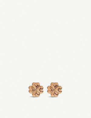 FOLLI FOLLIE Heart4Heart Blossom rose gold-plated stud earrings