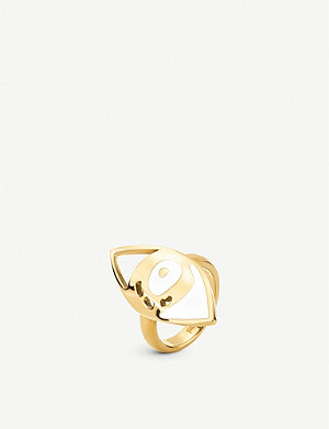 FOLLI FOLLIE Talisman yellow gold plated eye ring