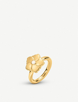 FOLLI FOLLIE Bloom Bliss yellow gold-plated ring