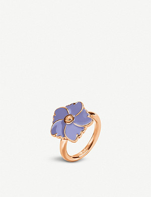 FOLLI FOLLIE Bloom Bliss rose gold-plated ring