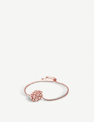 FOLLI FOLLIE Bouquet rose-gold plated and cubic zirconia bracelet