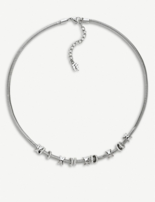 FOLLI FOLLIE Love Memo silver plated short necklace