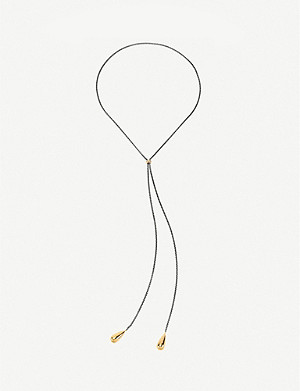 FOLLI FOLLIE Style Drops gunmetal and yellow gold-plated necklace