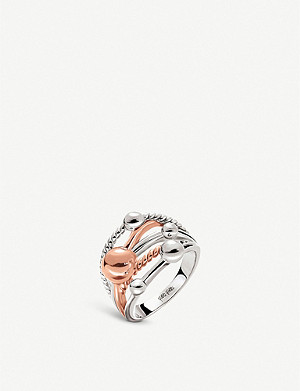 FOLLI FOLLIE Style Bonding silver and rose gold-plated ring