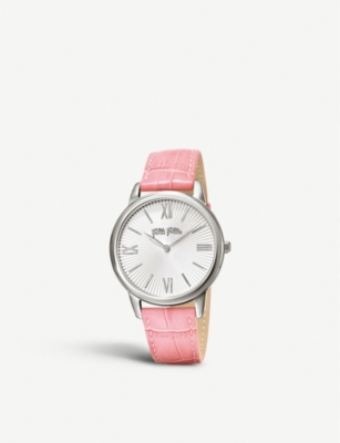 FOLLI FOLLIE Match Point leather and stainless steel watch