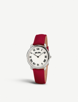 FOLLI FOLLIE Perfect Match leather and stainless steel watch