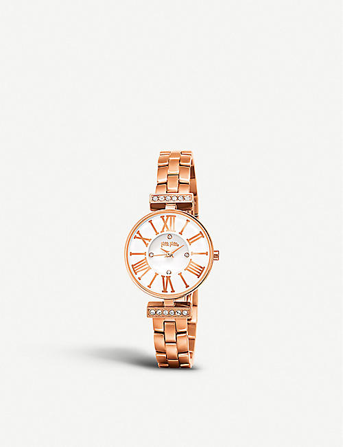 FOLLI FOLLIE Dynasty rose gold-plated watch