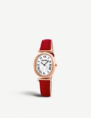 FOLLI FOLLIE Metal Chic leather and rose-gold-plated watch