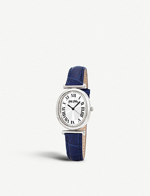 FOLLI FOLLIE Metal Chic leather and stainless-steel watch
