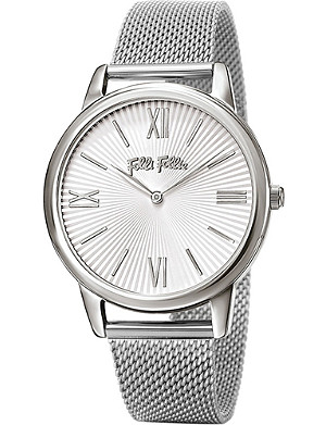FOLLI FOLLIE Match Point Large silver-plated and stainless steel watch