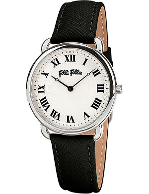 FOLLI FOLLIE Perfect Match Mini stainless steel and leather watch