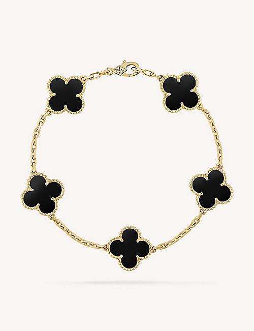850c60a91 VAN CLEEF & ARPELS Vintage Alhambra gold and onyx bracelet