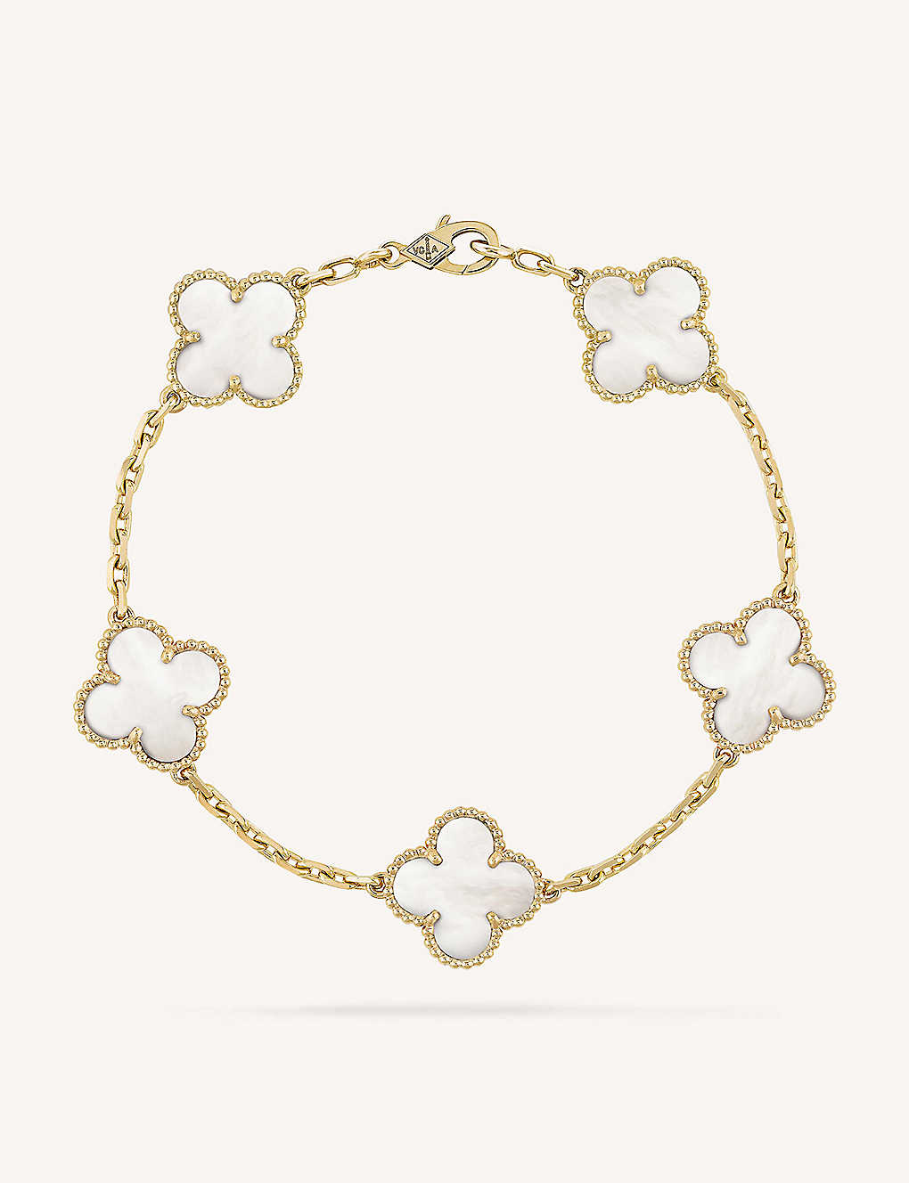 d2e8f4a2bc864b VAN CLEEF & ARPELS - Vintage Alhambra gold and mother-of-pearl ...