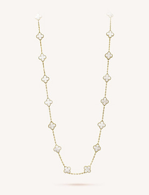 VAN CLEEF & ARPELS Vintage Alhambra gold and mother-of-pearl necklace