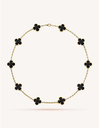 VAN CLEEF & ARPELS: Vintage Alhambra gold and onyx necklace
