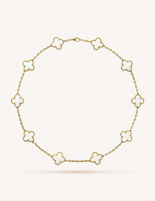 VAN CLEEF & ARPELS: Vintage Alhambra gold and mother-of-pearl necklace