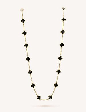 VAN CLEEF & ARPELS Vintage Alhambra gold and onyx necklace