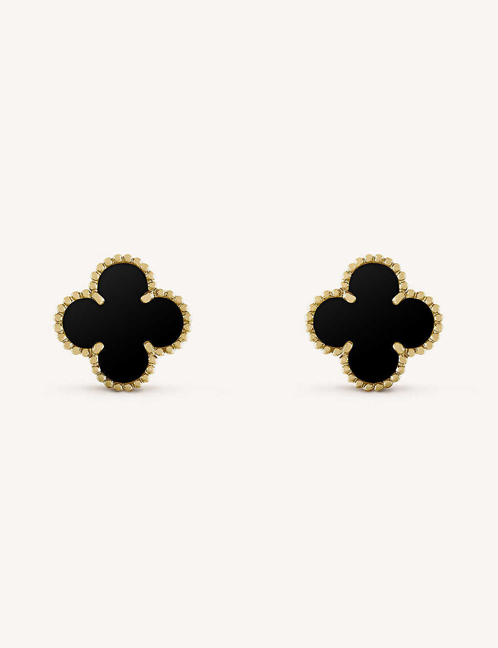 51a27a408 VAN CLEEF & ARPELS - Vintage Alhambra gold and onyx earrings ...