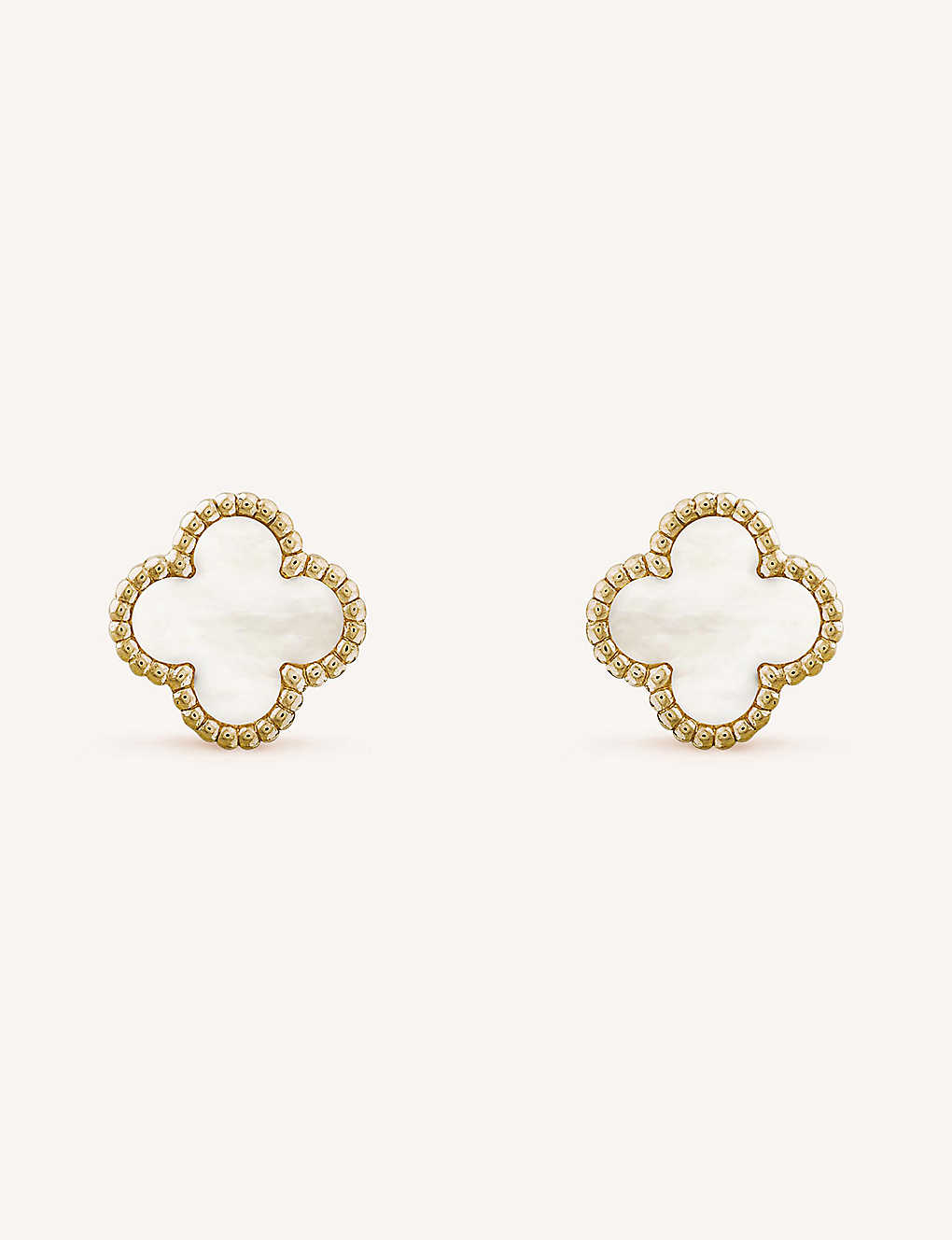 10a618452 VAN CLEEF & ARPELS - Sweet Alhambra gold and mother-of-pearl stud ...