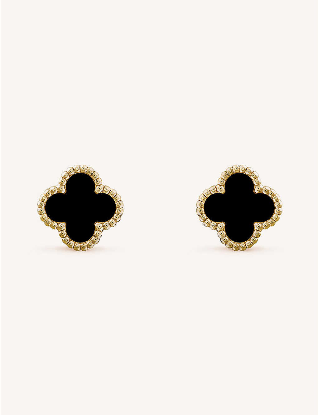 8e46eadc9 VAN CLEEF & ARPELS - Sweet Alhambra yellow-gold and onyx earrings ...