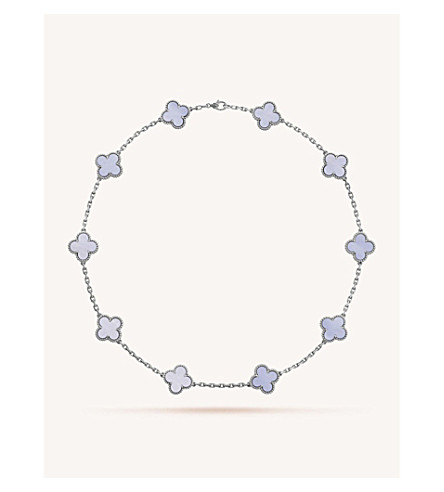 0924d79dcef5 VAN CLEEF   ARPELS Vintage Alhambra gold and chalcedony necklace (White+gold
