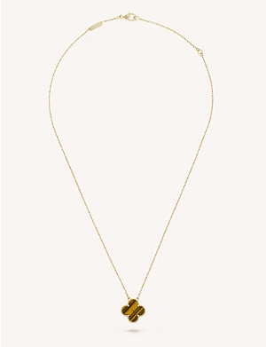 VAN CLEEF & ARPELS Vintage Alhambra gold and tiger's eye pendant